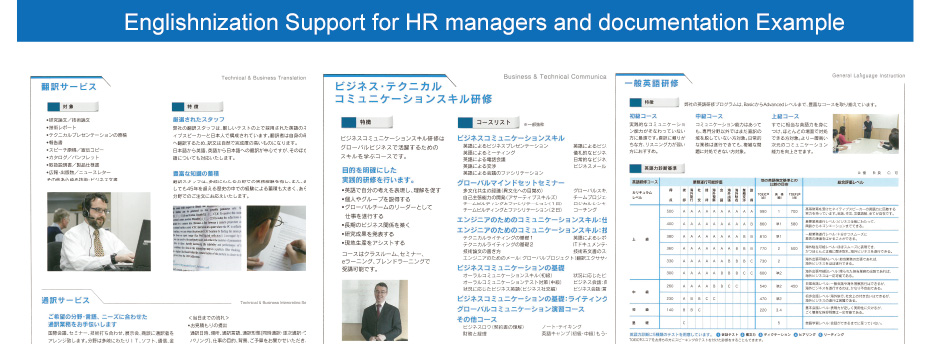 Englishnization Support for HR managers and documentation Example