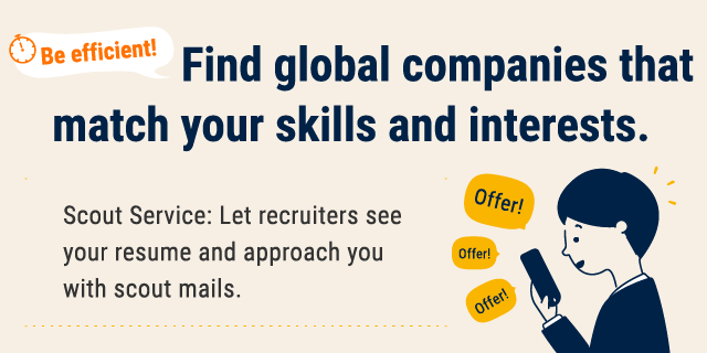 Find global companies that match your skills and interests.